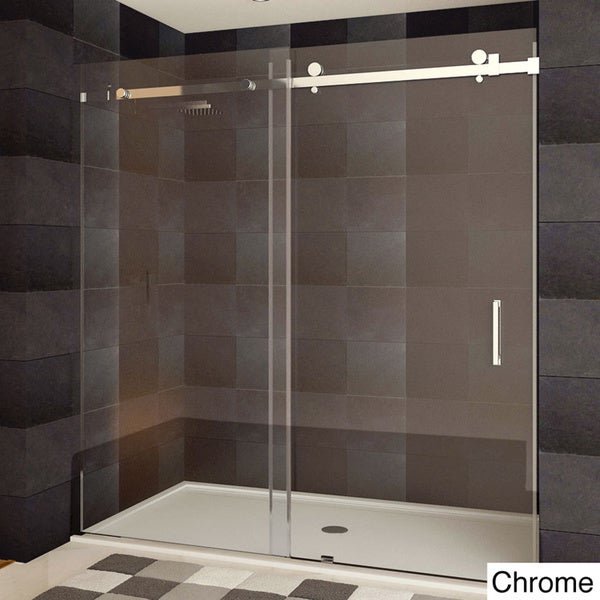 Shop Lesscare Ultra B Semi Frameless Sliding Shower Doors Free