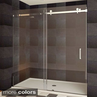 Frameless Sliding Shower Doors vigo 60-inch clear glass frameless sliding shower door - free