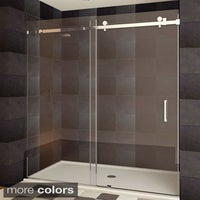 Vigo 60 inch clear glass frameless sliding shower door free lesscare ultra b semi frameless sliding shower doors planetlyrics Image collections