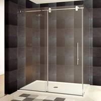 Frameless Shower Enclosure 44-48 or 56-60W x 79H x 36D Chrome/Brushed
