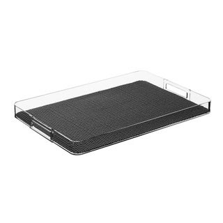 Fishnet Rectangular Lucite Serving Tray