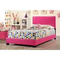 Pink Upholstered Full-size Bed