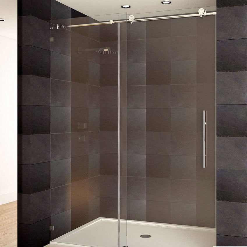Image result for frameless shower door
