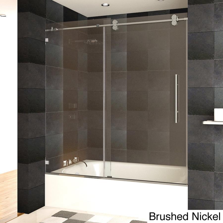 LessCare Luxury Tempered Glass Frameless Bathtub/ Shower ...
