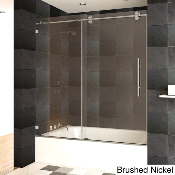 Shop LessCare Luxury Tempered Glass Frameless Bathtub/ Shower Door