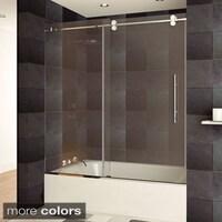 LessCare ULTRA-B 58-62W x 60H Bathtub Doors, Semi-frameless ...