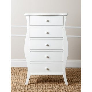 Abbyson Belvedere Antiqued White Small 5-drawer Chest