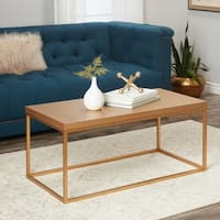 Abbyson Durham Antiqued Gold Wood Coffee Table