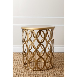 ABBYSON LIVING 'Vista' Gold Iron Circles Round End Table