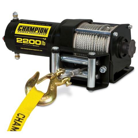 Champion Power Equipment 100127 Steel 2,200-pound ATV/ UTV Winch Kit