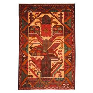 Handmade One-of-a-Kind Balouchi Wool Rug (Afghanistan) - 3' x 4'5