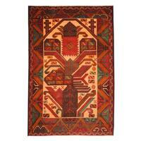 Handmade Herat Oriental Afghan Tribal Balouchi Wool Rug  - 3' x 4'5 (Afghanistan)