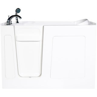Envy 53-inch Left Jetted Walk-In Bath Tub in White