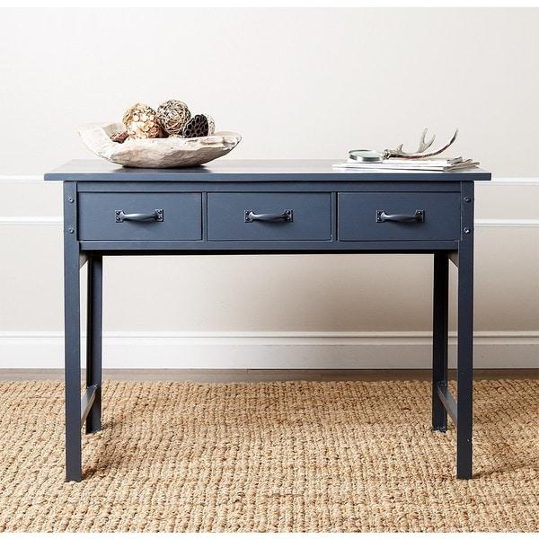 Abbyson Booker Antique Blue Console Sofa Table Free