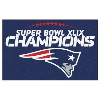 New England Patriots Super Bowl XLIX Champions Blue Nylon Rug (1'7 x 2'5)