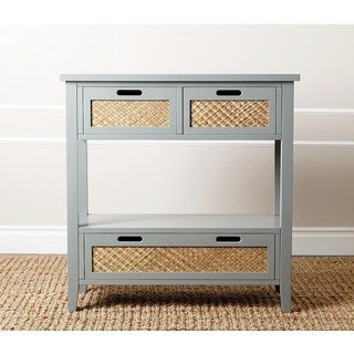 Havenside Home Jacksonville Antique Steel Blue Console Sofa Table
