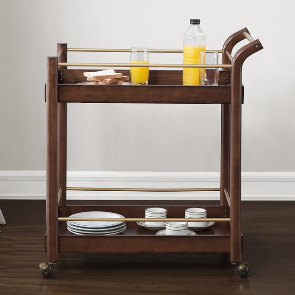 Preferred Jasper Laine I Love Living Wood Bar Cart - Free Shipping Today  EF04