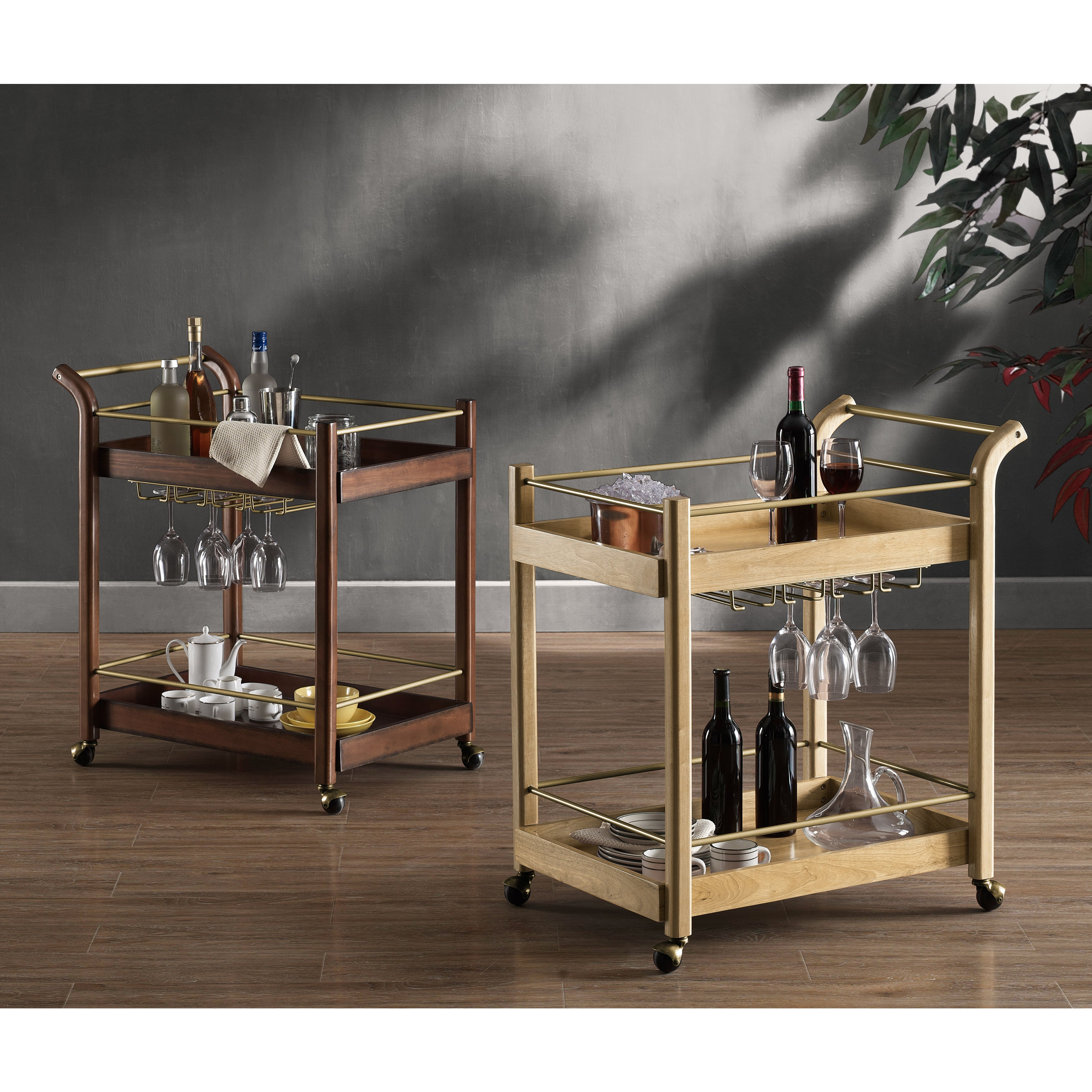 Picture of: Carson Carrington I Love Living Wood Bar Cart Overstock 9816577