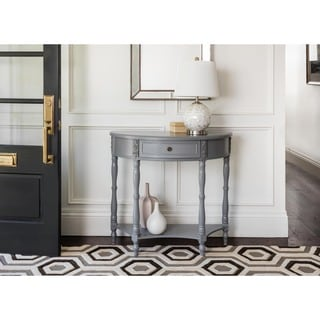 Abbyson Pierre Antiqued Grey Console Table