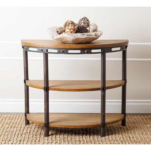 Rustic Sofa Tables For Sale: Shop Abbyson Northwood Industrial Rustic Console Table