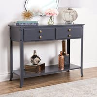 Abbyson Antoni Antiqued Blue Console Sofa Table