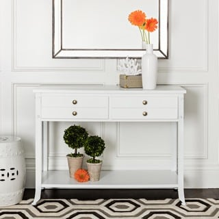 Abbyson Antoni Antiqued White Console Table