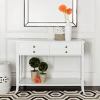 Abbyson Antoni Antiqued White Console Table