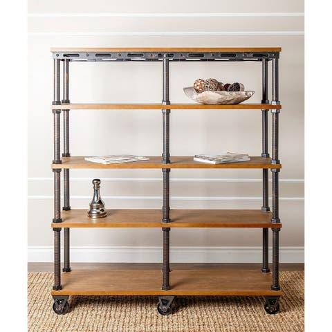Abbyson Northwood Industrial Etagere Bookcase