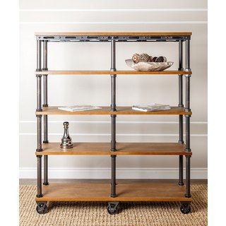 Abbyson Northwood Industrial Etagere Bookcase