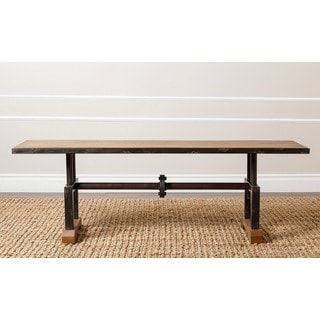 Abbyson Northwood Industrial Rustic Bench