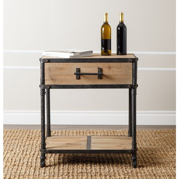 Shop Abbyson Northwood Industrial End Table Free Shipping Today
