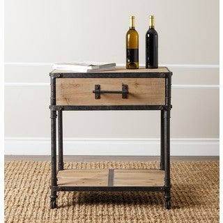 Abbyson Northwood Industrial End Table