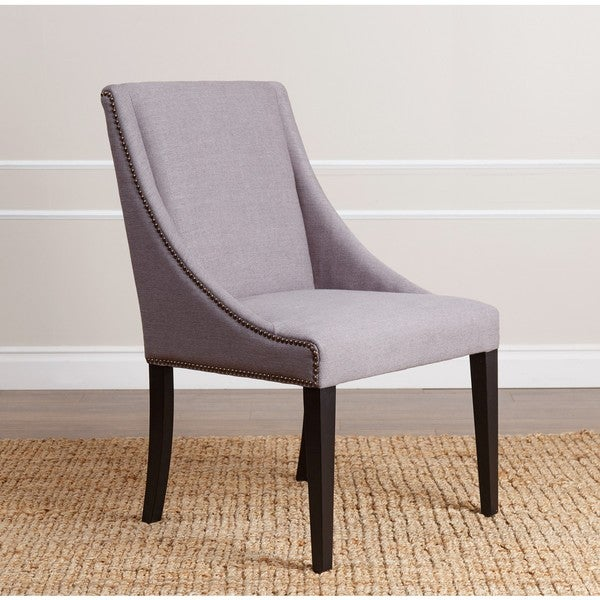 Abbyson Sara Swoop Grey Dining Chair Free Shipping Today