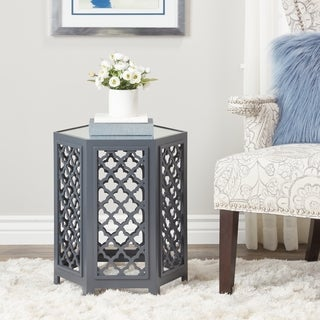 Abbyson Daytona Blue Mirrored End Table