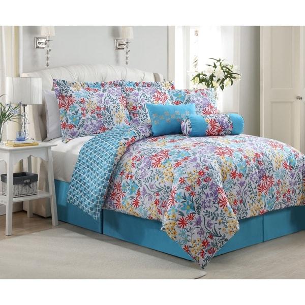 Katerina Reversible Floral 7-piece Comforter Set