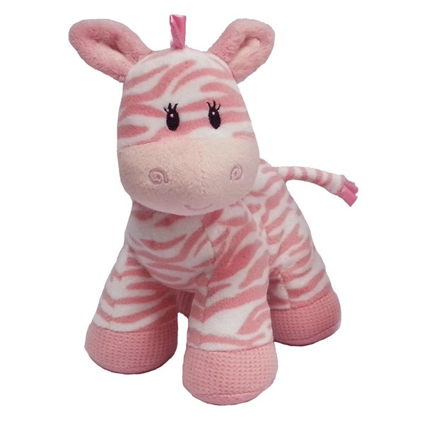 First & Main Zippy Zebra Pink