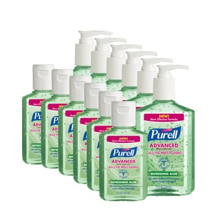 Purell Aloe Hand Sanitizer 2-ounce (Pack of 6) + 8-ounce (Pack of 6)