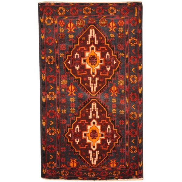Herat Oriental Afghan Hand-knotted Tribal Balouchi Wool Rug (2'8 x 4'7) - 2'8 x 4'7