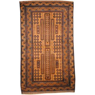 Herat Oriental Afghan Hand-knotted Tribal Balouchi Wool Rug (2'9 x 4'7)