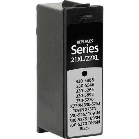 V7 Remanufactured High Yield Black Ink Cartridge for Dell Series 21XL/22XL - 180 page yield