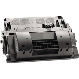 eReplacements Compatible High Yield Black Toner for HP CE390X
