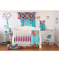 One Grace Place Terrific Tie Dye Infant 3-piece Baby Bedding Set