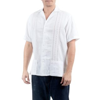 Handmade Men's Cotton 'Metapan Style' Shirt (El Salvador)
