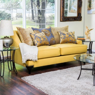 Furniture of America Visconti Premium Fabric Loveseat