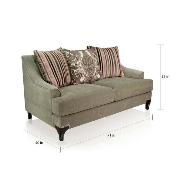 Brilliant Shop Visconti Contemporary Nailhead Loveseat By Foa On Bralicious Painted Fabric Chair Ideas Braliciousco