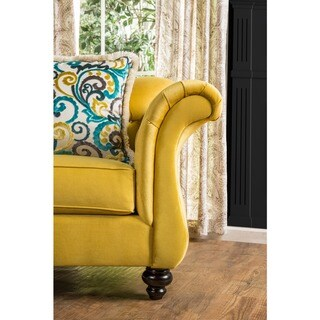 Furniture of America Agatha Traditional Tufted Arm Chair