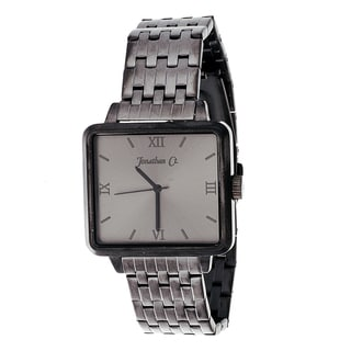 Link to Jonathan Ct. Men's Stainless Steel 'JCW002GU Pullman' Gun Metal Square Analog Watch Similar Items in Men's Watches