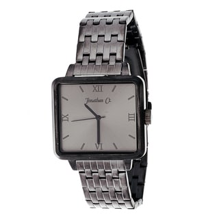 Jonathan Ct. Men's Stainless Steel 'JCW002GU Pullman' Gun Metal Square Analog Watch