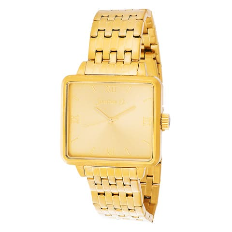Jonathan Ct. Men's Goldplated Stainless Steel ' Pullman' Square Analog Watch