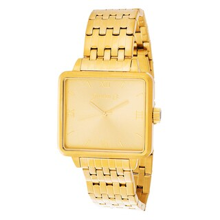Jonathan Ct. Men's Goldplated Stainless Steel 'Jcw002G Pullman' Square Analog Watch